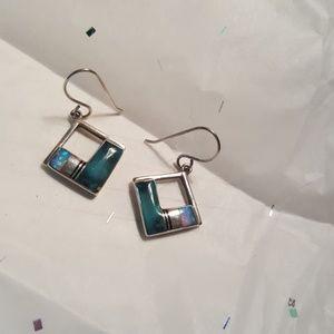 Jewelry - Sterling silver inlay opal earrings